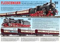 Fleischmann Prospekt 1991 D GB F Ruhr-Schnellverkehr II brochure model railways