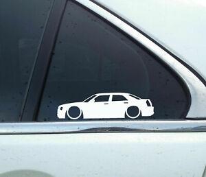 2X Lowered car outline stickers - for Chrysler 300c / 300 C Hemi sedan L127