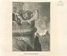 Massacre des habitants de Mérindol en 1545 Vaudois du Luberon GRAVURE 1883