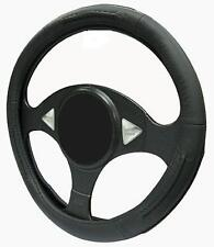 BLACK LEATHER Steering Wheel Cover 100% Leather fits SKODA