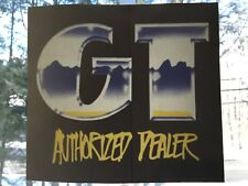 "GT Bicycles Dealer Window Sticker; 8""x 9"""