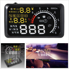 "5.5"" LCD Car OBD2 HUD Head Up Display Speedometers Engine Speed Driving Mileage"