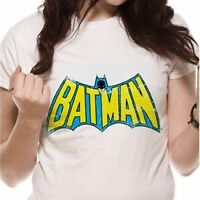 Batman - Retro Logo Ladies Fitted T Shirt - NEW & OFFICIAL