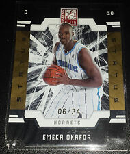 Emeka Okafor 2009-10 Donruss Elite GOLD STATUS DIE-CUT Insert Card (#'d 06/24)