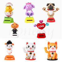 Solar Powered Dancing Cartoon Animal Swinging Shaking Dancer Toy Car Home Decor