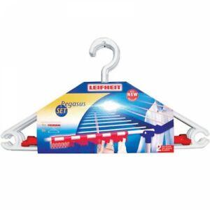 Leifheit Pegasus Accessory Set 5 Clothes Hangers & 2 Clothes Clips GLN81535