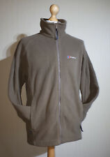 Berghaus Interactive Fleece Jacket Mens Size Large Tan Excellent Condition