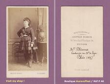CDV à POITIERS : Mme DHIONNET CANTINIÈRE MILITAIRE AU 31ème de LIGNE, 1875 -P46