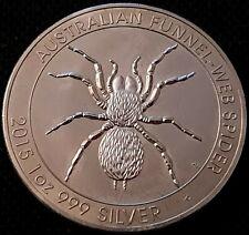 1Oz 2015 0.999 Australian $1 Funnel-Web Spider Fine Silver Bullion Coin