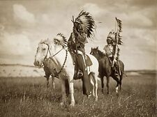 "Photo, Sioux Indians,Chiefs, Native American, Horses, antique,  20""x16"" CANVAS"