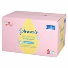Johnson's Baby Extra Sensitive Fragrance Wipes - Pack of 12 Total 672 Wipe