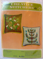 NEW SEALED Vintage Kugel Vogart Crewel Embroidery FIELD FLOWERS Pillow Kit 292A