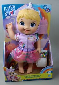 E9423 Hasbro Baby Alive Tinycorns Doll Blonde Hair with Diaper & Cuppie
