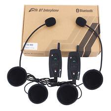 2PC BT Interphone Bluetooth Motorbike Motorcycle Helmet Intercom 500M Headset