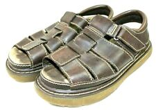 CROSSROADS womens sandal size 10 M faux leather brown insole is 9 3/4 inches