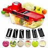 6in1 Vegetable Salad Cutter Potato Carrot Grater Blade Slicer Kitchen Chopper