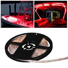 16.4ft/5M Waterproof Yacht Marine Boat Bow Deck Pontoon LED Light Strip Red 12V