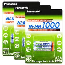 6 x Panasonic AAA batteries 1000 930mAh Ni-MH Rechargeable High capacity Pack