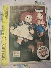RAGGEDY ANNE & ANDY~McCalls 2531 *RARE & OOP 1970 cloth art doll patterns