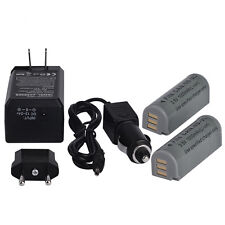 2* 1000mAh NB-9L Battery + Charger For Canon NB-9L NB9L IXUS 1000 HS SD4500