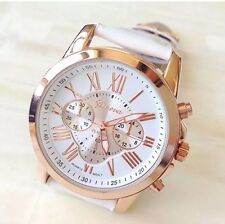 USA Seller Leather Band Waterproof Analog Quartz Wrist Watch