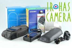 Sekonic Litemaster Pro L-478D + View Finder 5°With Box #32848 L10