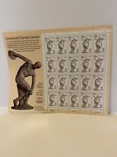 Centennial Olympic Games Sheet of Twenty 32 Cent Postage Stamps Scott 3087