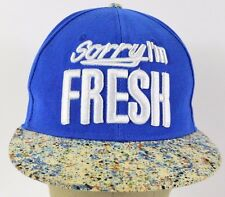 Blue Sorry I'm FRESH paint bill embroidered baseball hat cap adjustable snapback