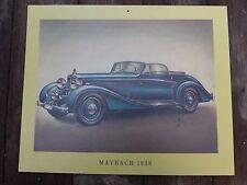 Vintage Modelo de Impresión de 1938 de marketing Maybach del coche perfecto para Pub Tienda Garaje Playroom
