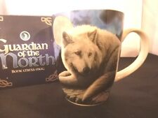 Guardian Of The North Wolf and Northern Lights Mug Lisa Parker In A Lovely Box