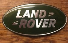 1 X LAND ROVER GRILLE GRILL BADGE GREEN SILVER DISCOVERY FREELANDER 2 DEFENDER