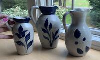 Williamsburg Pottery Pitchers (3)