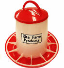 LARGE RITE FARM PRODUCTS HD 13.2 POUND CHICKEN FEEDER LID & HANDLE POULTRY CHICK