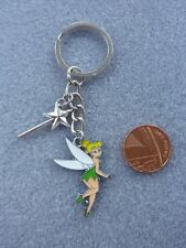 Tinkerbell Keyring Fairy Keychain Enamel Bag Charm Birthday Gift Present # 169
