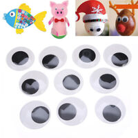 10pcs 50mm Big Black Wiggle Giant Googly Eyes For Doll Toy Scrapbooking Crafts