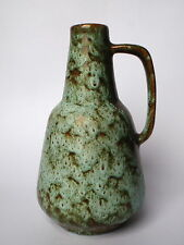 ES Emons & Söhne 815-18 Keramik Vase Henkelvase mint braun - Mid Century WGP