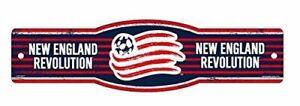"New England Revolution FC MLS 4""x17"" Plastic Street Sign"