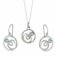 Blue Sterling Silver Fine Jewellery Sets