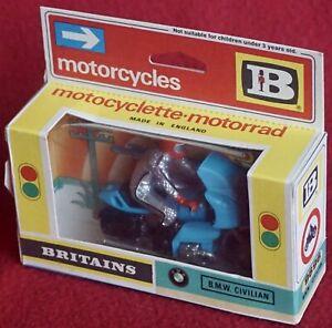 Britains Motorcycles B.M.W. (BMW) Civilian in Original Box - cat. 9696 - Nice!