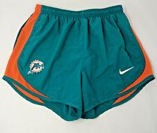 NFL Miami Dolphins Football Team size M Silk PJ Womens Shorts Orange Teal CHOP