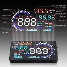 """5,5"""" AUTO HUD Head-up Display Cruscotto Monitor Digitale OBD2 Allarme Tachimetri"""
