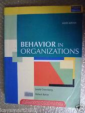 Behavior in Organizations by Jerald Greenberg,Robert Baron, ISBN 9788131716106