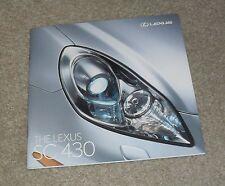 Lexus SC430 Sports Car Brochure 2005-2006
