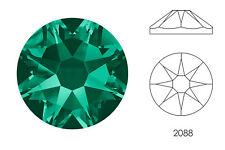 10x Swarovski® Crystals Flatback emerald 2088 NoHF SS34 7mm Xirius Strass-Stein