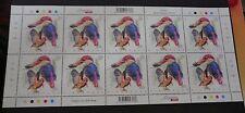 Singapore 2017 Kingfishers Black-backed 90c stamp stamps Mint sheet