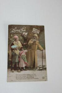 Carte postale ancienne Père Noël Messager armées 1911 1ère Guerre Mondiale CPA