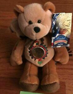 Limited Treasures Coin Bear Sacagawea & Pomp 2001 w/ tag Collectible Rare