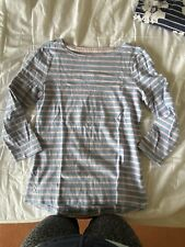 Joules Pink And Blue Stripe Harbour Top. 3/4 Sleeve. Size 6
