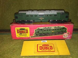 Hornby Dublo 2 Rail 2232 CO-CO Deltic Diesel Loco VG Boxed Serviced