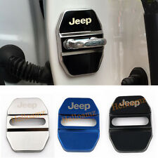 Stainless Car Door Lock Protective Cover Sticker For Jeep Auto Accessories Gift